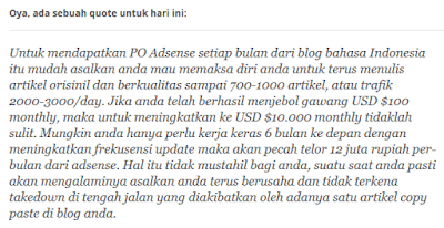 Tips Sukses Ngeblog Ala Mba Indri Lidiawati