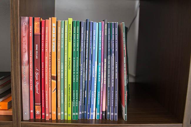 organização dos livros