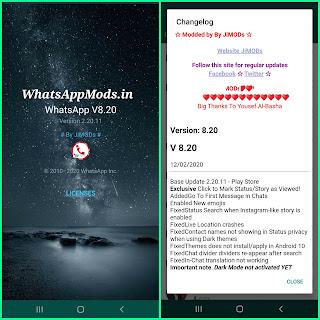 WhatsApp+ JiMods v8.25