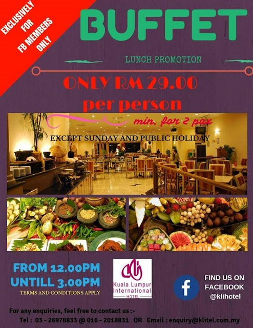 Promosi Buffet Masakan Melayu Tradisional RM29