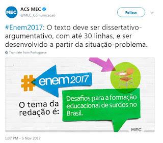 Tema da redação do Enem 2017 fala sobre a educação de surdos no Brasil