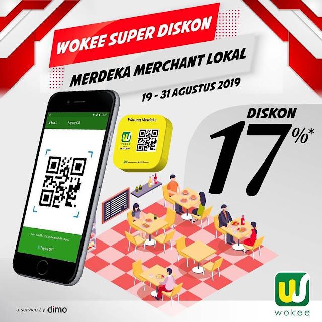 #Wokee - #Promo Wokee Super Diskon 17% di Merdeka Merchant Lokal (19 - 31 Agustus 2019)