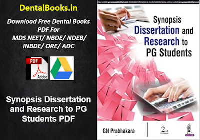 Synopsis Dissertation and Research to PG Students PDF