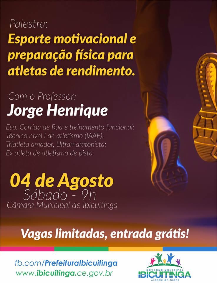 Secretaria De Esporte De Ibicuitinga Promove Palestra