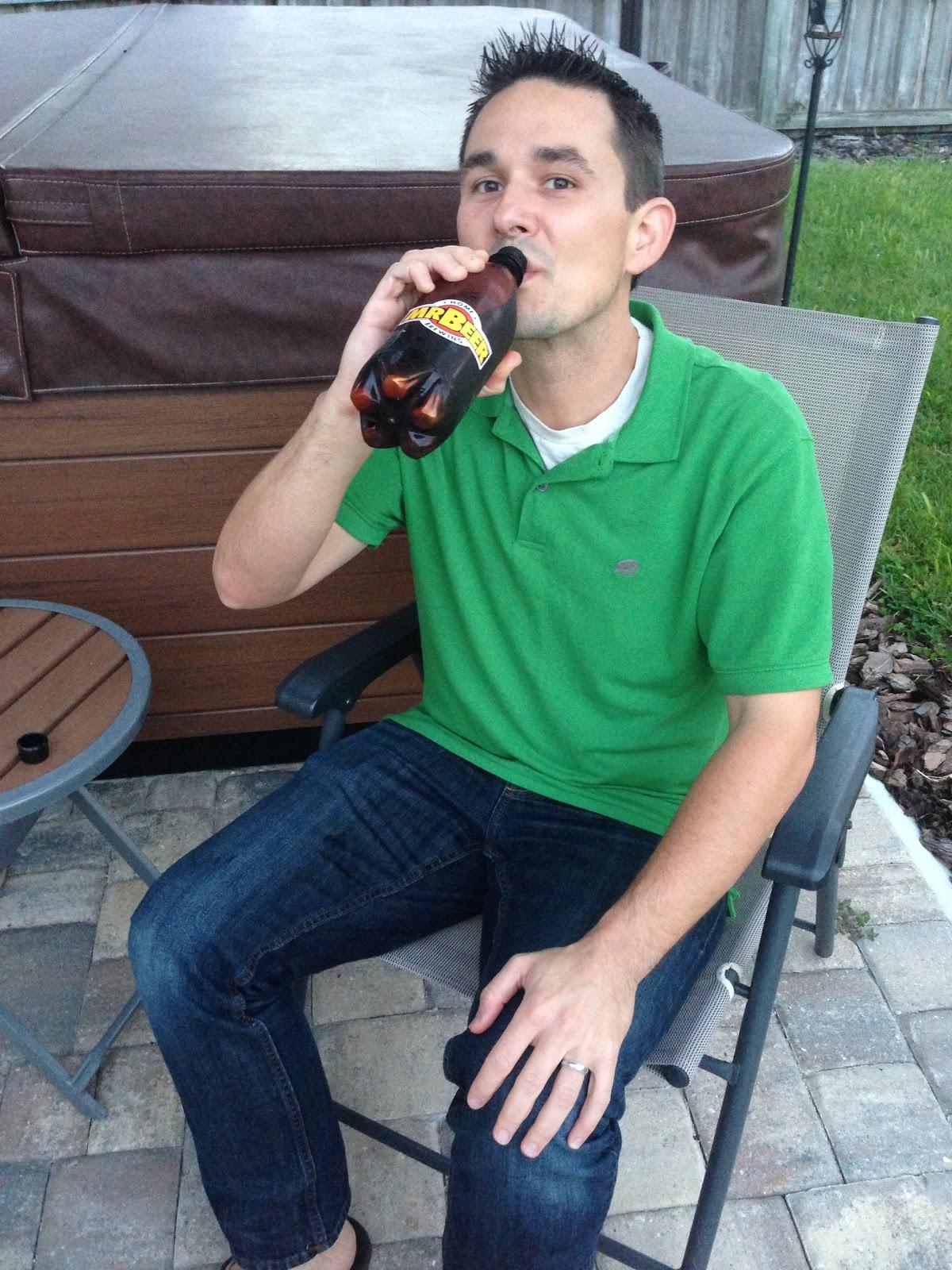 Enjoying Mr. Beer