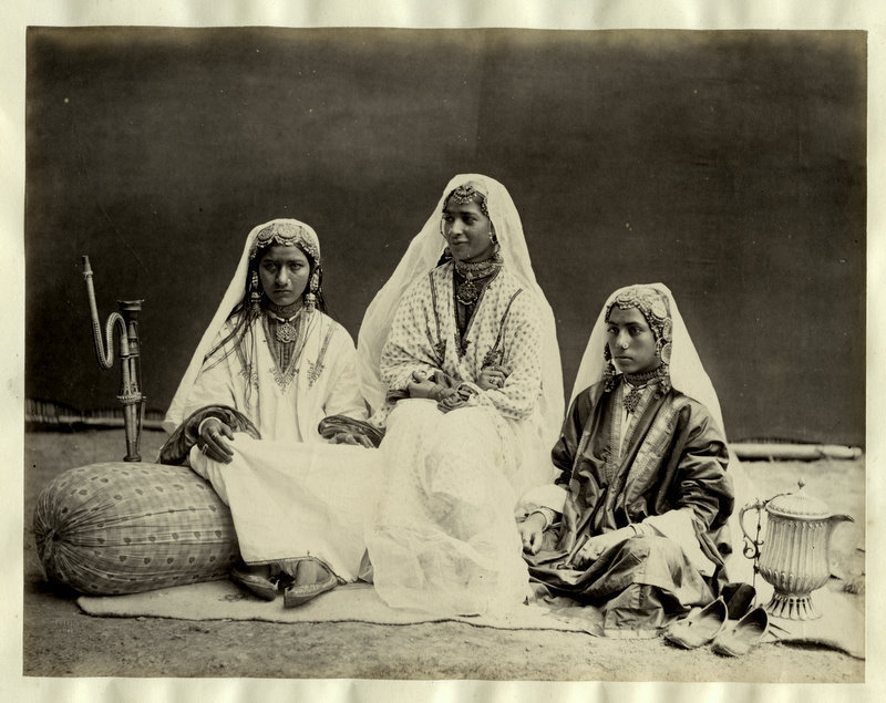 Three Nautch Girls from Kashmir, India - 1870's