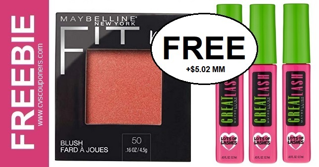 FREE Maybelline Fit Me Blush CVS Deal 1-19-1-25