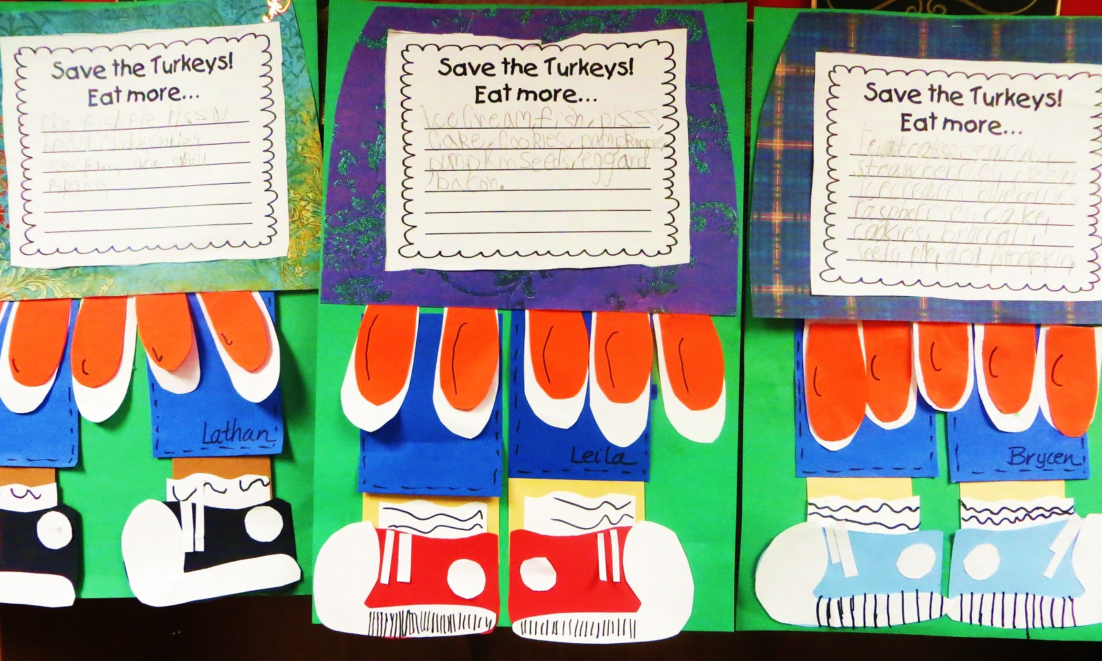 thanksgiving writing activity first grade