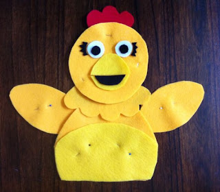 Chica Puppet in progress