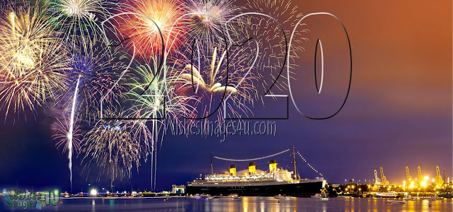 Happy New Year 2020 Full HD Fireworks Background Download