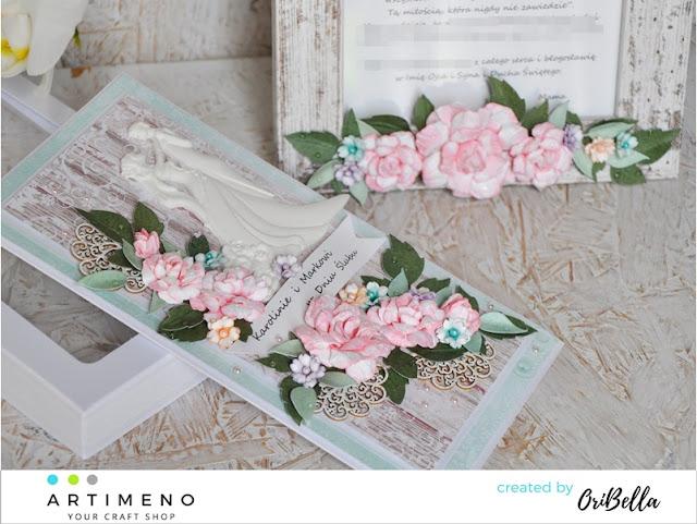 kartka i ramka na ślub