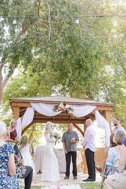 wedding ceremony with big tree