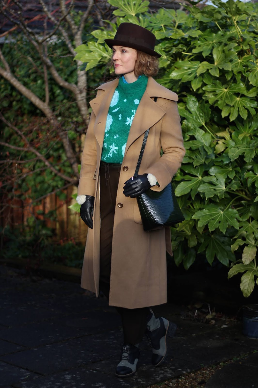 Winter Outfit | Camel Coat and a Wool Hat | Fake Fabulous
