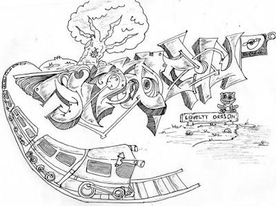 gambar tulisan grafiti keren banget