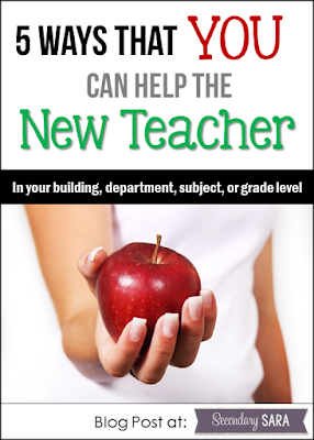 It can be tough to be the new teacher in a school or in the grade level, even if you're not a brand new, first-year teacher. This post details a few ways that you can welcome the new teacher, while also providing some sanity hacks for you along the way.