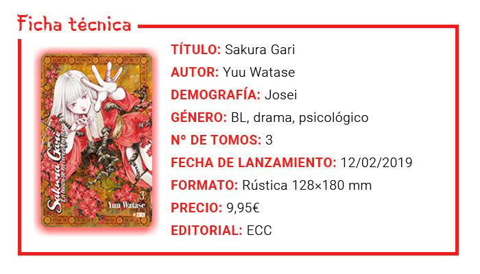 Reseña manga - Sakura Gari: En busca de los cerezos en flor (Yuu Watase) - ECC Ediciones - Ficha técnica