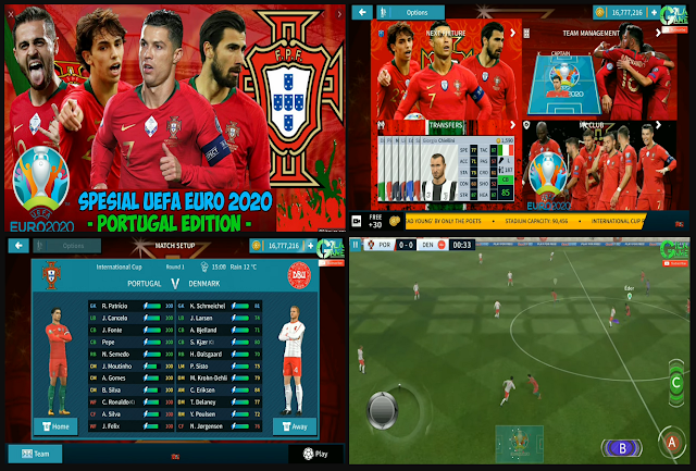 Download DLS 2020 MOD UEFA EURO Portugal Update Squad & Jersey
