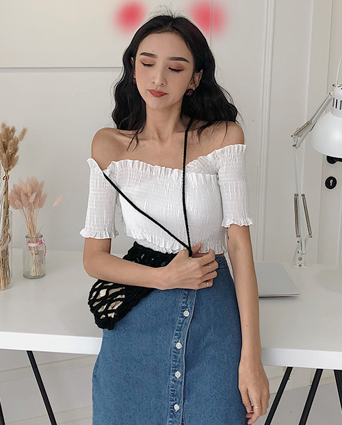 Smoked Off Shoulder Blouse
