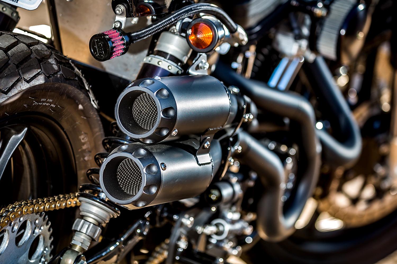 Racing Cafè: Harley Sportster 883 Tracker by Mule Motorcycles