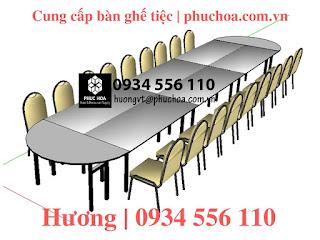 Bàn oblong cho khách sạn nhà hàng