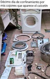 Lavadora desmontada por piezas