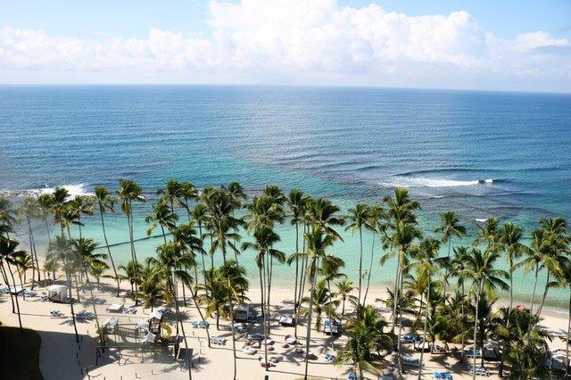 Beach in Jamaica in the Caribbean