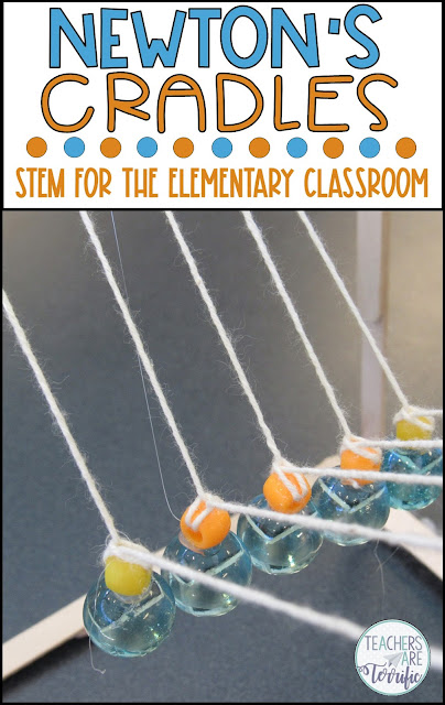 This is the best STEM Challenge for your upper elementary students. Check this post full of tips about trying the resource- Build a Newton's Cradle! #teachersareterrific #STEM #elementary