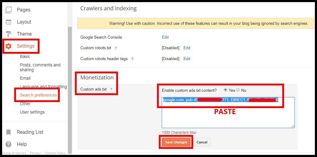 cara mengatasi notifikasi file ads.txt google adsense di blogger