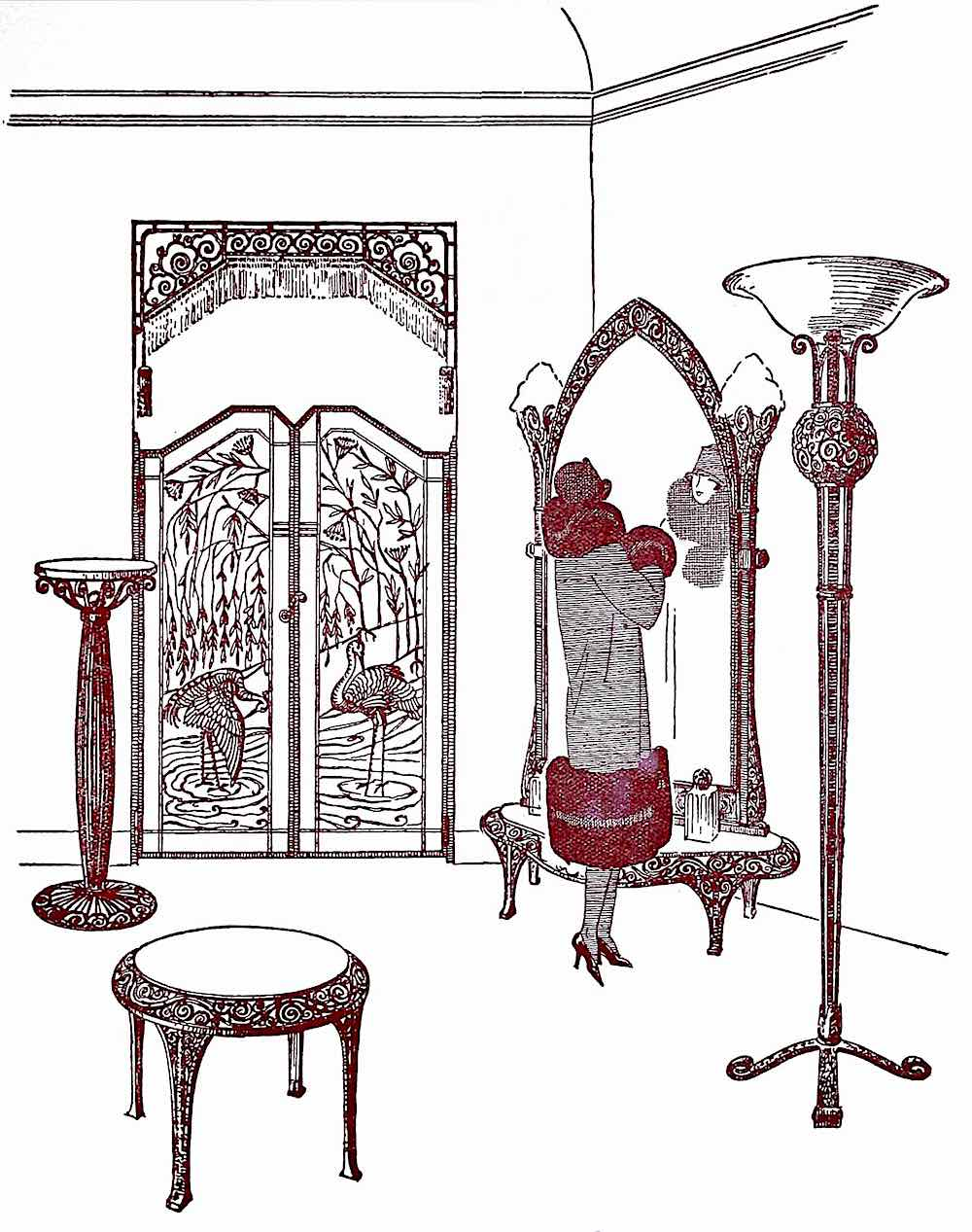 1926 hotel mirror