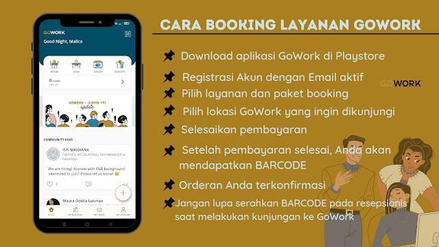 Cara Booking Layanan gowork