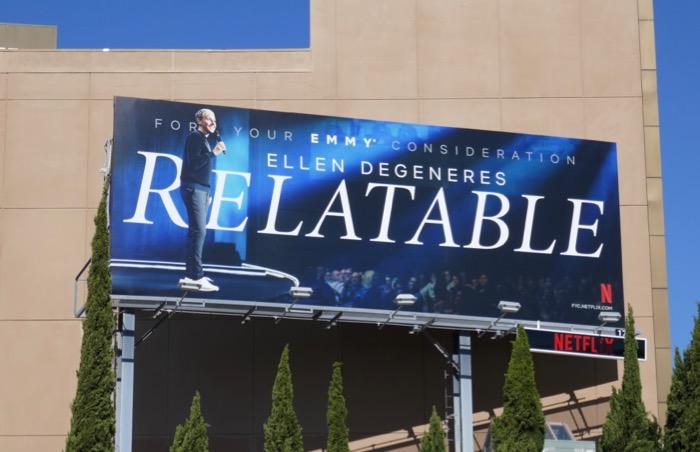 Relatable Ellen DeGeneres 2019 Emmy fyc billboard