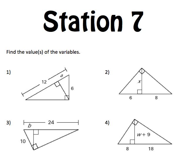 Mrs. E Teaches Math: Right Triangles Unit
