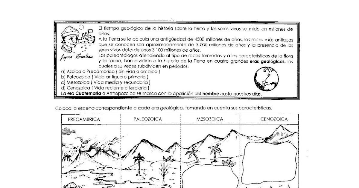 Pinto Dibujos Niños Del Planeta Para Colorear: Ejercicios De Primaria: Eras Geologicas Para Niños