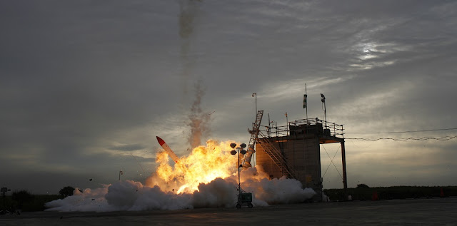 MOMO-2 rocket crashes to the ground shortly after its launch on Saturday, June 30. Photo Credit: Interstellar Technologies Inc.