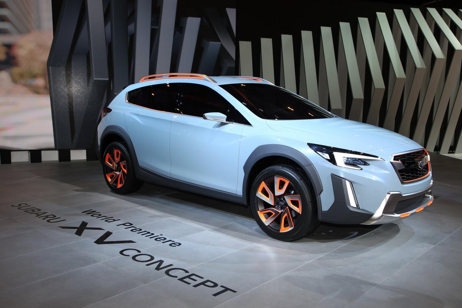 Subaru XV Concept 2016 ngầu trong thiết kế đèn led, nhưng xấu trong sự đơn điệu
