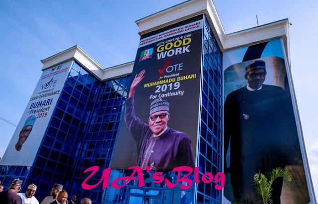 PHOTOS: Buhari visits renovated campaign office, expresses satisfaction