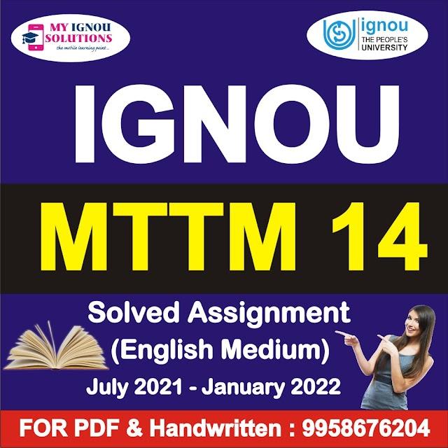 MTTM 14 Solve Assignment 2021-22