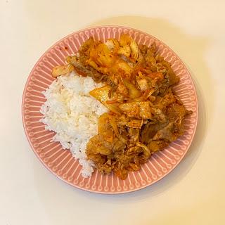豚キムチ,お弁当,冷凍