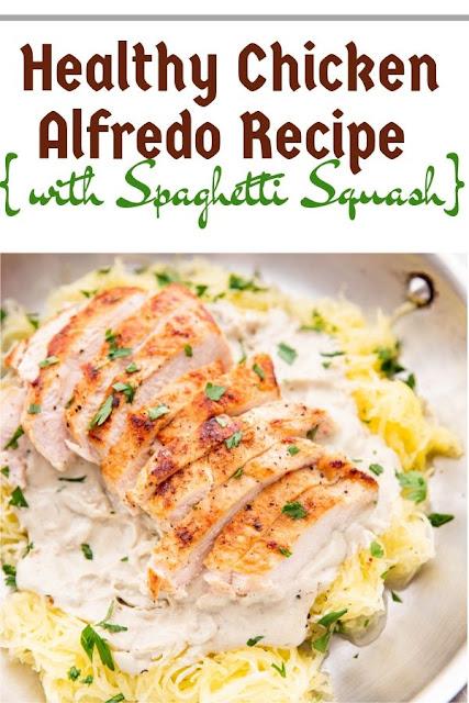 Healthy Chicken Alfredo Recipe with Spaghetti Squash#Healthy#chicken#Alfredo#Recipe#Spaghetti ealthy Recipes For Weight Loss, Healthy Recipes Easy