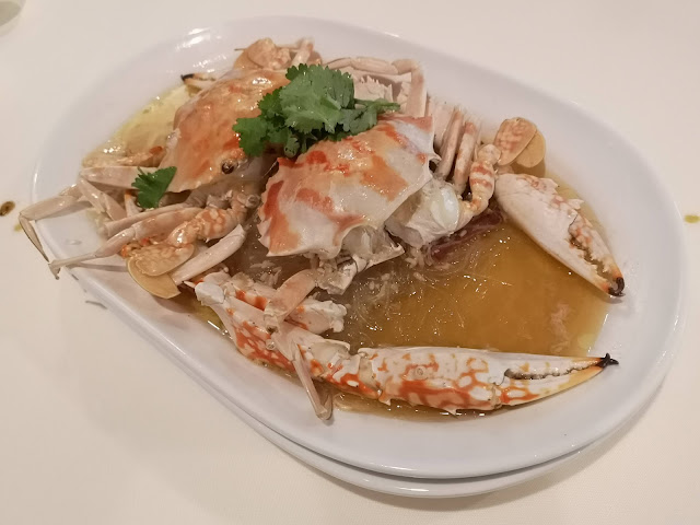 Steamed Flower Crab in Shaoxing Wine