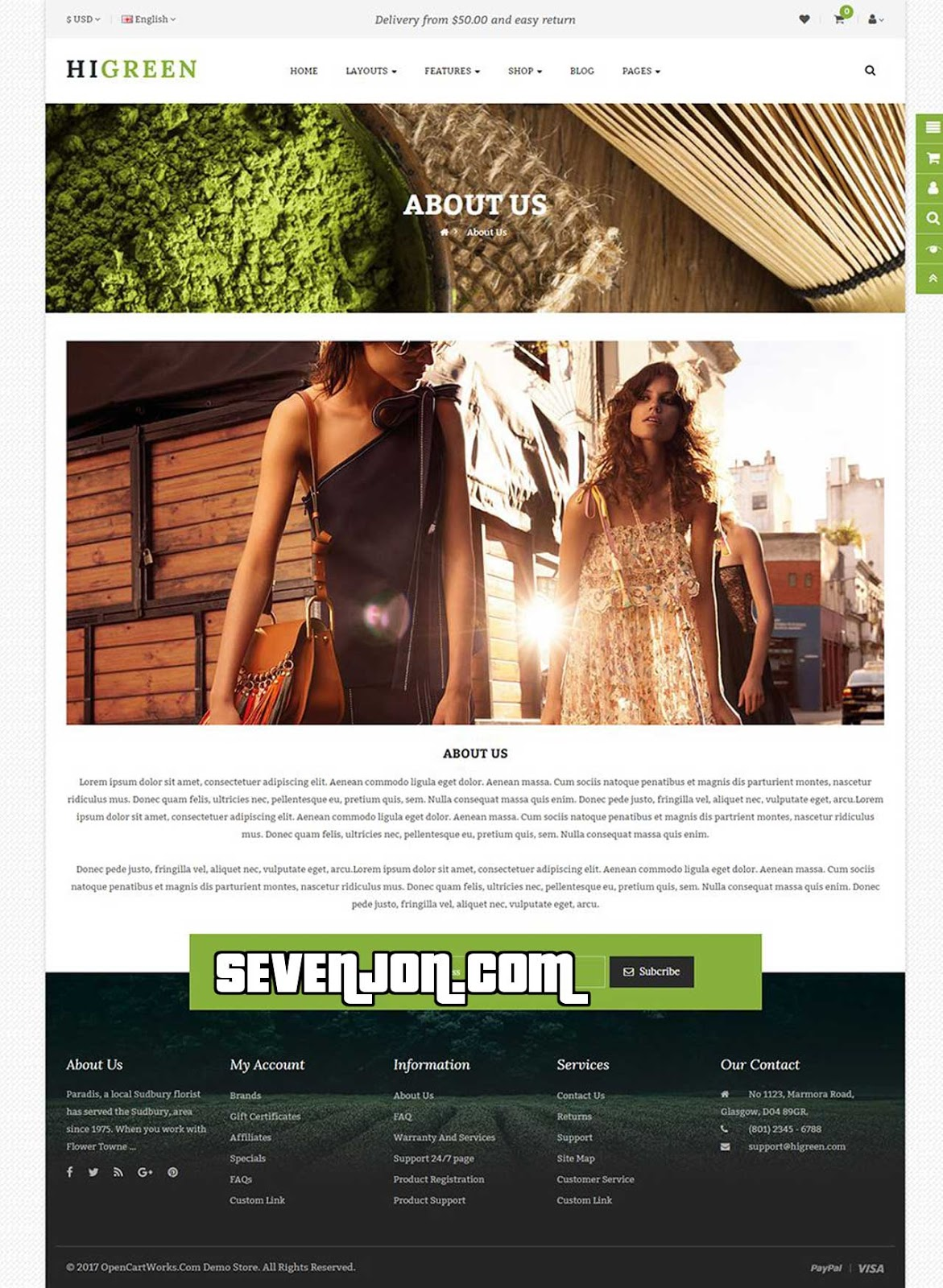 HiGreen - Multipurpose OpenCart Theme