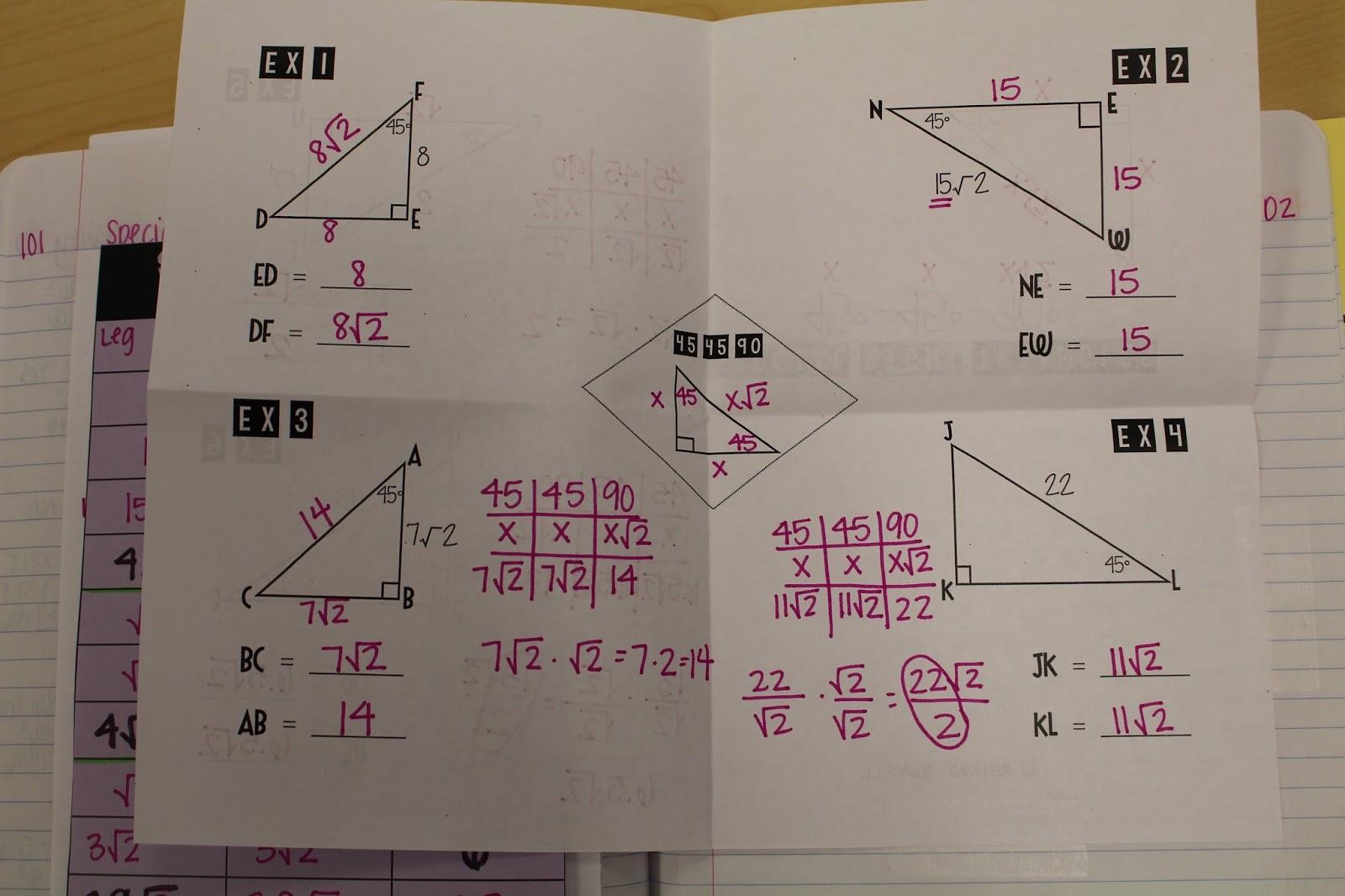 Right Triangles Unit
