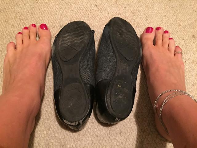 Well Worn Chacott Turquoise Pointe Ballet Slipper Shoes Balett Trashed