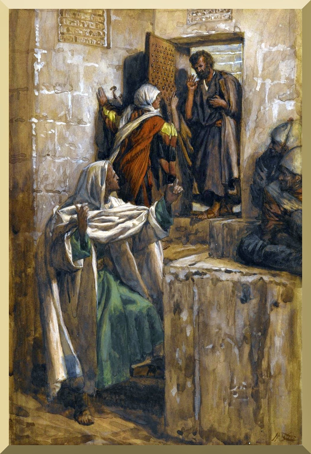 """The First Denial of Saint Peter"" -- by James Tissot"