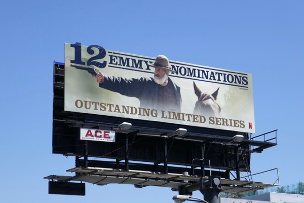 Godless 12 Emmy nominations cut-out billboard