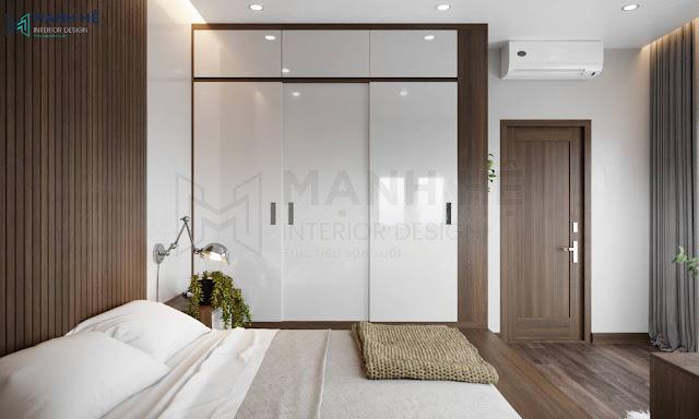 Mẫu Nội thất phòng ngủ hiện đại 10m2
