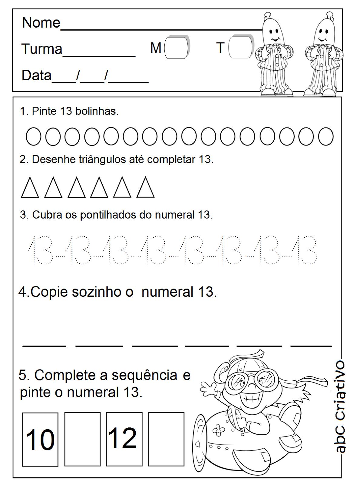 18 Numeral Worksheet