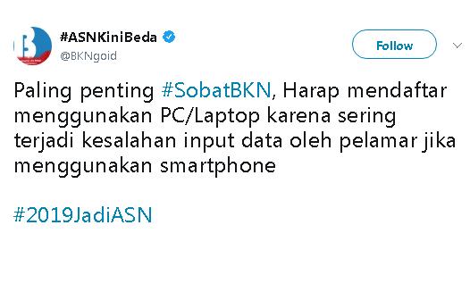 Daftar CPNS Wajib Pakai Laptop atau Komputer, Jangan Via Handphone