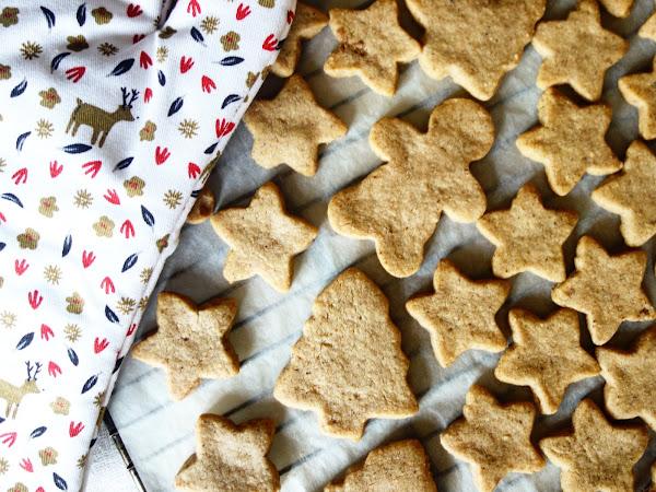 Sablés de Noël à la noisette et au praliné