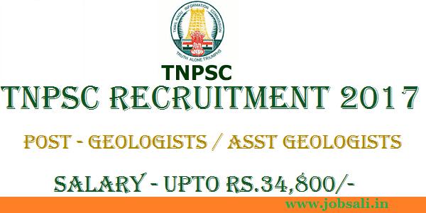 TNPSC Notification 2017, TNPSC Geologist vacancy, TNPC Exam